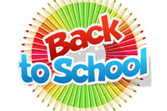Link to4 stylish back to school labels vector