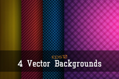 Link to4 stylish checkered and striped background vector