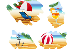 Link to4 summer beach painting vector