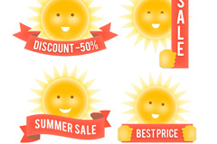 Link to4 summer sale tag vector