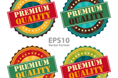 Link to4 tooth quality label design vector