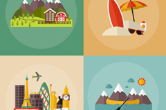 Link to4 travel vacation vector illustration