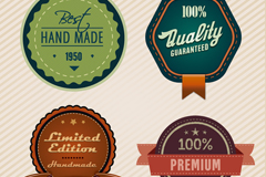 Link to4 types of exquisite high quality tag vector