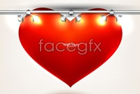 Link to4 valentine's day card template vector