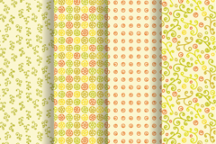 Link to4 warm background pattern vector