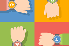 Link to4 wear smart watches arm vector diagrams