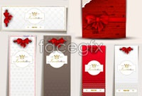 Link to4 wedding invitation template vector graphic