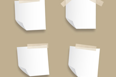 Link to4 white blank note vector