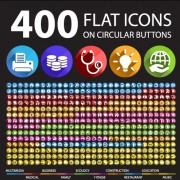 Link to400 society flat icons vector free