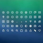 Link to45 kind line icons psd