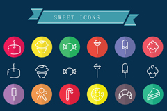 Link to48 creative dessert icon vector