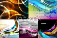 Link to5 active curves background vector