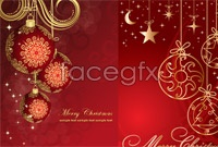 5 beautiful christmas background vector