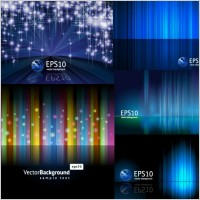 Link to5 beautiful light vector background