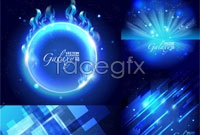 Link to5 blue glare background vector