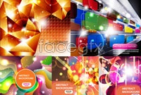Link to5 bright and dynamic background vector map