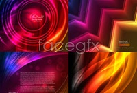 Link to5 bright light effect background vector