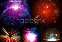 Link to5 bright spot background vector