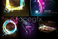 Link to5 bright vibrant spot background vector map