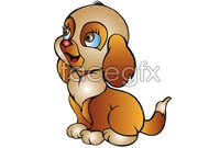 Link to5 cartoon animals vector map