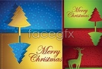 Link to5 christmas card design vector