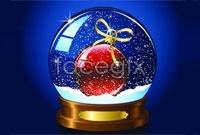 Link to5 christmas crystal ball vector
