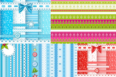 Link to5 christmas lace striped background vector