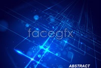 Link to5 city shining technology background vector