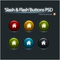Link to5 color buttons psd