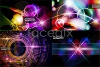 Link to5 colorful background vector map