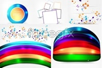 Link to5 creative color image background vector map