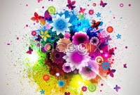 Link to5 current flower background vector