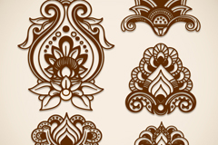 Link to5 cut a symmetric pattern vector