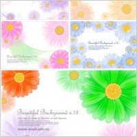 Link to5 cute little daisy background vector