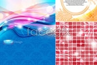 Link to5 dream wave background vector map