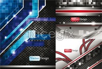 Link to5 dynamic technological background vector