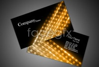 Link to5 fancy business card design-vector