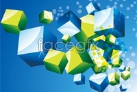 5 fancy cube vector map