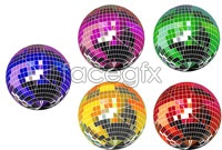 Link to5 fancy stage lights vector graphics