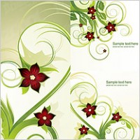 Link to5 fashion flower pattern vector material