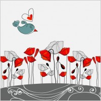 Link to5 fashion flowers vector