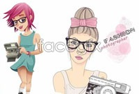 Link to5 female photographer fashion vector