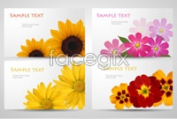 Link to5 flower background vector