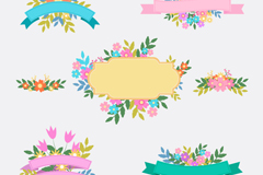 Link to5 flower ribbon vector