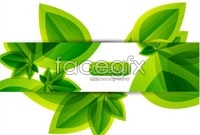 Link to5 green leaves creative graphic vector map