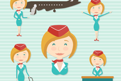 Link to5 hair flight attendant design vector