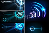 Link to5 light and shadow effects, background vector