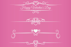 Link to5 love patterns lace vector