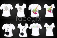 5 lovers short sleeve t shirt designs vector