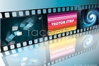 Link to5 movie film negatives vector